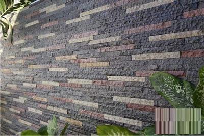 batu alam dinding susun sirih